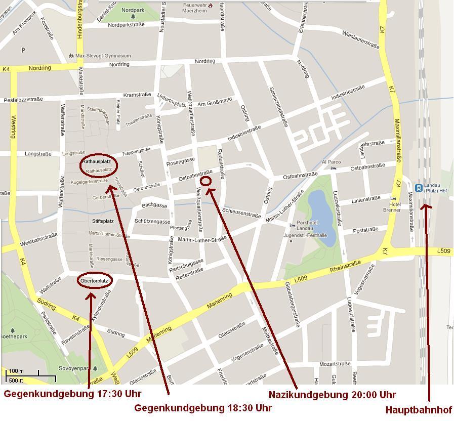 Nazikundgebung landau 16. M�¤rz 2012