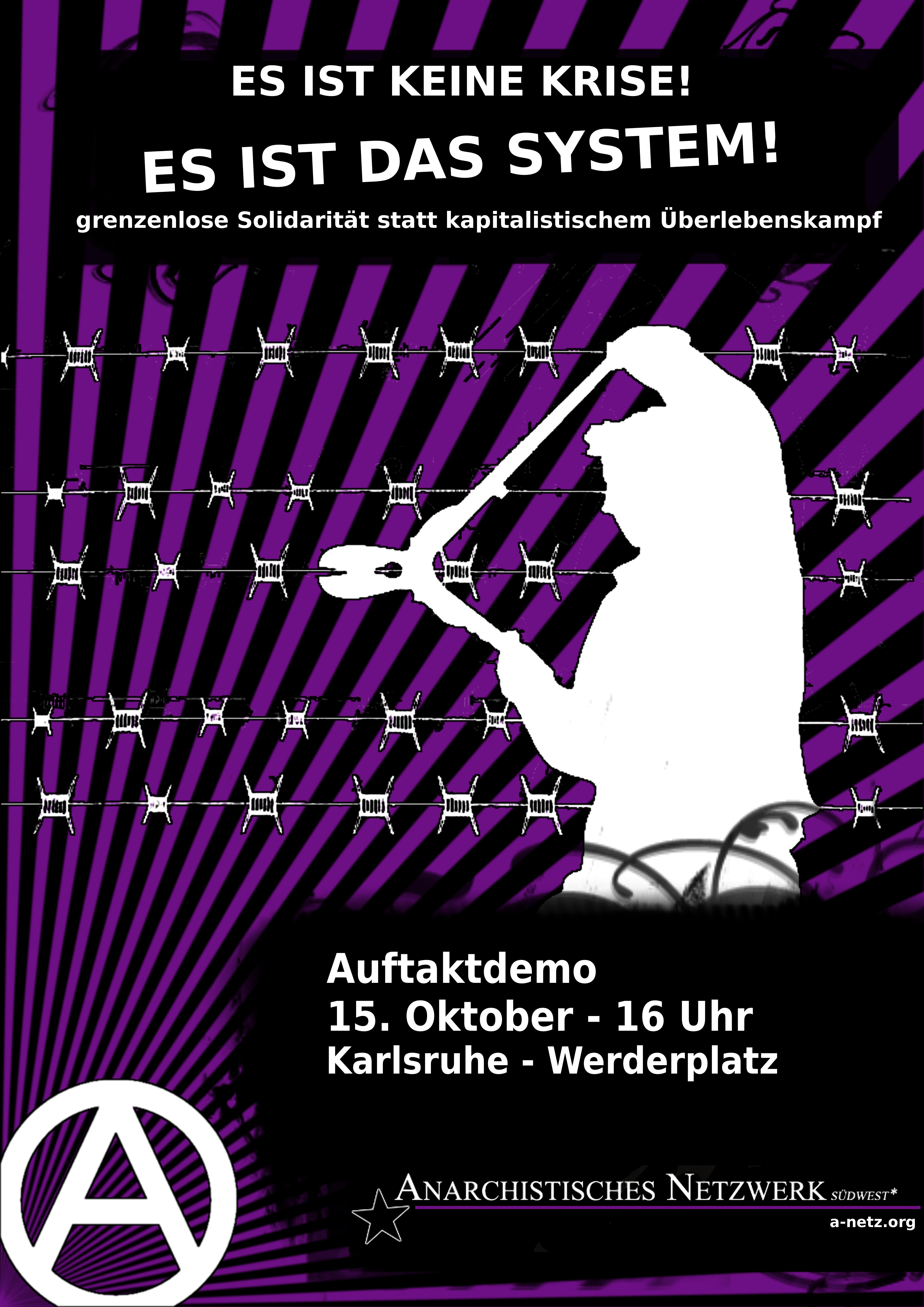 Plakat zur Demo